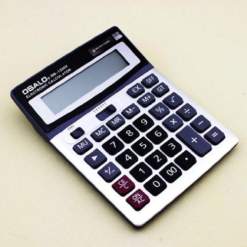 energ¨ªa solar calculadora digital oficina durable Gullor OS-1200V electr¨nica con pantalla grande y llave de pl¨¢stico (Ordenadores educativos)