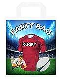 Bolsas de fiesta temáticas de rugby, para regalos, botín, eventos, colores Munster (paquete de 6)