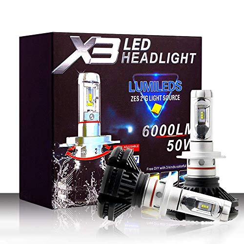 CKQ-KQ 5500Lm H7 LED koplampen 50W 6000K waterdichte led-koplamp met Super Bright ZES Chips 2 stuks Car Light