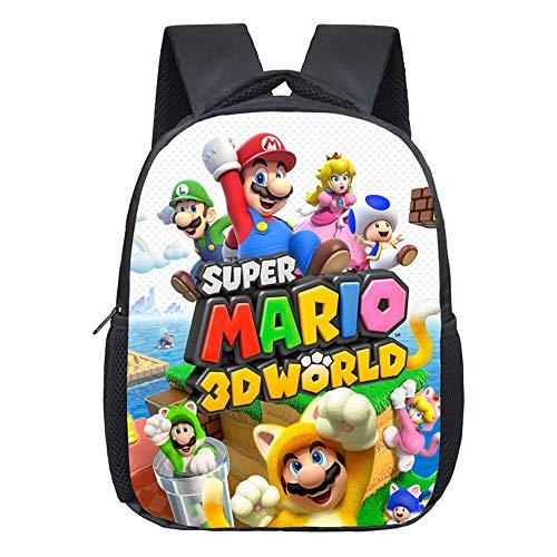 Bonamana: Mochila escolar con impresión en 3D de Super Mario Bros  de viaje