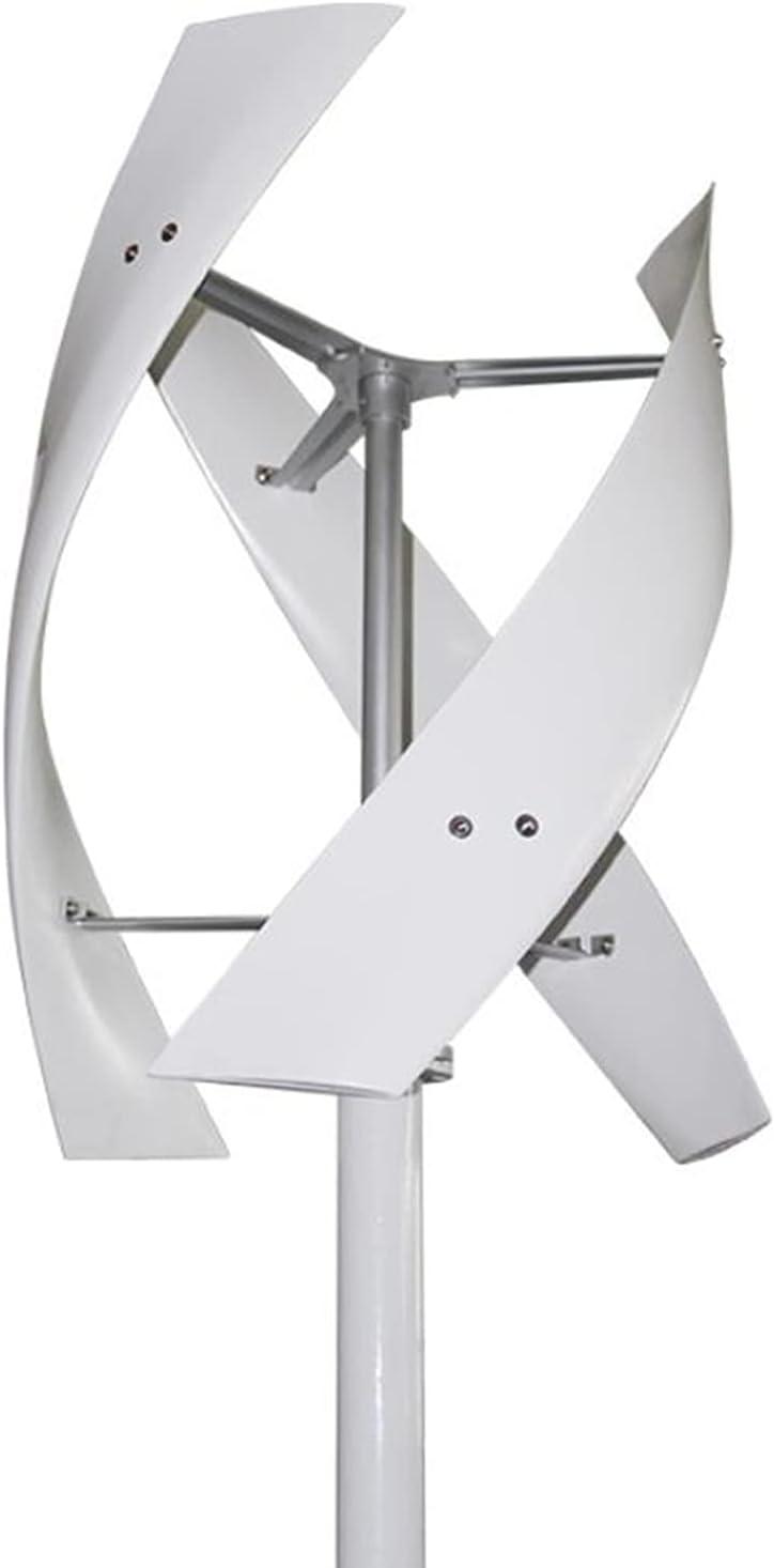 WANYE Axis Vertical Turbina de Viento 100W, 200W, 300W, 400W, 600W, 800W 12V 24V 48V Turbina de Viento Vertical para el hogar con Controlador híbrido 300W-24V