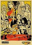 lubenwei Póster Retro De La Película De Quentin Tarantino Pulp Fiction Pond Dog Inglourious Basterds Poster Home Wall Room Decor 40x60Cm Sin Marco At-3665