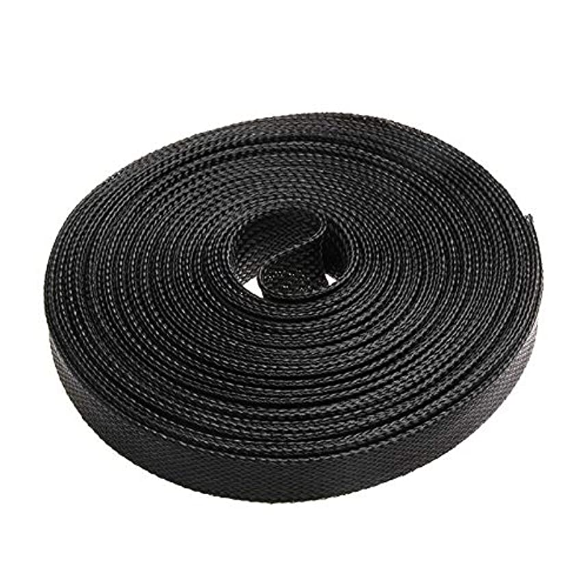 Mercury_Group, Cable Sleeves_5M Black Insulation Braided Sleeving 4/6/8/10/12/15/20/25/30mm Tight PET Expandable Cable Sleeve Wire Gland Cables Protection - (Color:12mm)