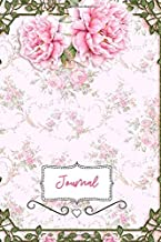 Journal: For Roses Lover. Romantic Floral Blooms Notebook.  6 x 9 with 110 blank sheets of paper.