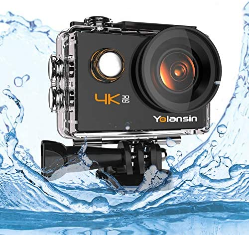 Yolansin 4K Action Camera 20MP 40M Waterproof EIS Sports Camera with 170 Wide Angle Ultra HD product image