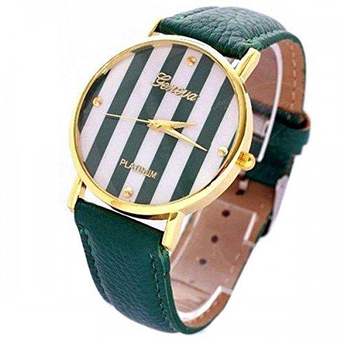 Geneva Geneva Platinum Bande - Reloj Color Verde