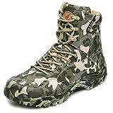 Botas tácticas Impermeables,Botas de Entrenamiento Desert Boots,Botas de Desierto para Exteriores Antideslizantes y Resistentes al Desgaste,Zapatos Militares de Senderismo Transpirables,42