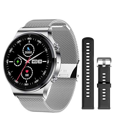 ZYDZ S600 Redondo Smart Watch Men Support Bluetooth Call Heart Rate 1.3 Inch Pantalla de Color Grande Reloj Personalizado Deporte SmartWatch Hombres Android iOS,C