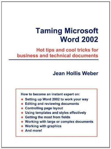 Taming Microsoft Word 2002