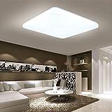 48W, tamaño: 540 * 540 * 45 mm, temperatura de color: 6000 - 6500K (blanco frío), voltaje: 85V-265V. Se enciende uniformemente sin parpadear y protege sus ojos de las luces duras y deslumbrantes. Luz de techo LED con las ventajas de alta salida de lu...