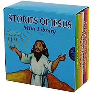 6 Stories of Jesus Books Mini Library Christian Religious Educational Learn Junior Early Learning History God Reading Kids Church Children
