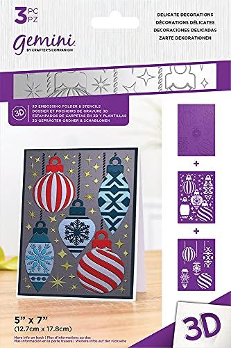 Gemini Christmas 3D goffratura cartella & stencil set - decorazioni delicate
