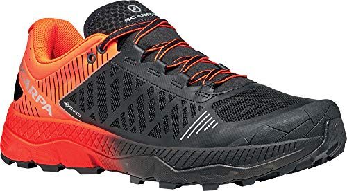 Scarpa SPIN Ultra GTX, Zapatillas de Trail Running Hombre, Orange Fluo-Black ARS6 Velox MAX LB, 42.5 EU