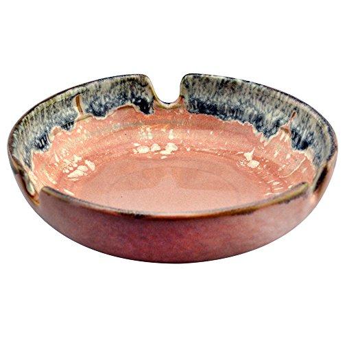 Rockin Gear Ashtray Glazed Designer Ceramic Beautifully Handcrafted Cigarette Cigar Ashtray (Pink)