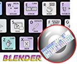 4Keyboard Blender Galaxy Series New Keyboard Labels Shortcuts are Compatible with Apple