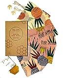 Emballage Cire d'abeille Bio - Beeswax Wrap- Zéro Déchet, Emballage Alimentaire...