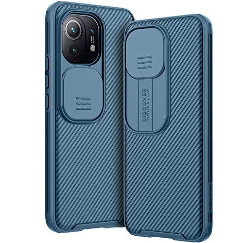 AROYI Hülle Kompatibel mit Xiaomi Mi 11, Kameraschutz mit Slide Camera Handyhülle für Xiaomi Mi 11 5G (2021) 6,81 Zoll - Blau