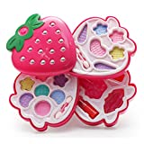 Kids Makeup Kit for Girls,Real Washable Pretend Play Makeup Set and Nail Art All in One Beauty Kit