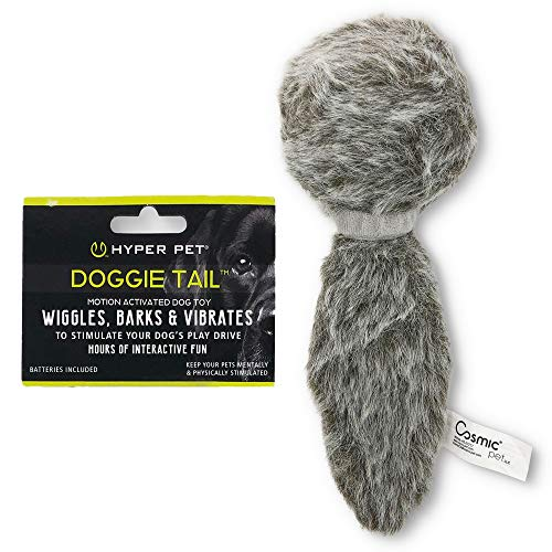 Hyper Pet Doggie Tail Interactive Plush Dog Toys (Wiggles, Vibrates, and...
