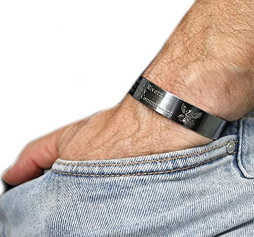 Personalized US NAVY Cuff bracelet Army husband gift Custom Military Bracelet Kia Jewelry Navy Veteran Gift