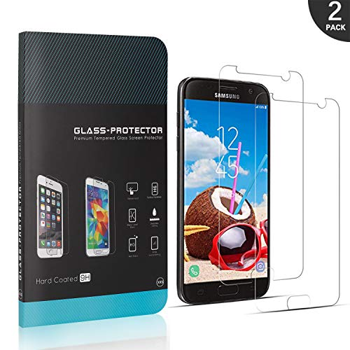 Generic LAFCH Schutzfolie für Samsung Galaxy S7, 2 Stück Folie Panzerglas Displayschutzfolie Kompatibel mit Galaxy S7, 9H Härte, Anti-Kratzen, Anti-Öl, Anti-Bläschen,