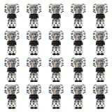 T Verbinder Niederspannung, MOPOIN 20 Stück T Hahn Kabelverbinder, Keine Notwendigkeit Isolierband zu Wickeln, Wasserdicht und Staubdicht für Verzweigung in Drähte Anschlusskabel erforderlich