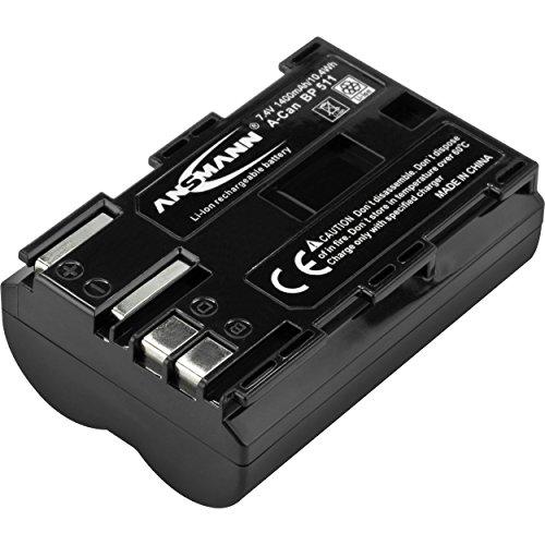 ANSMANN Kamera Akku BP 511 Li-Ion 7,4V 1400mAh - ideal für Canon EOS 5D 10D 20D 30D 40D 50D 300D / PowerShot G1 G2 G3 G5 G6 Pro 1 Pro 90 IS / MV30 MV30i MV300i MV400 MV400i MV430i MV450i MV450i uvm.