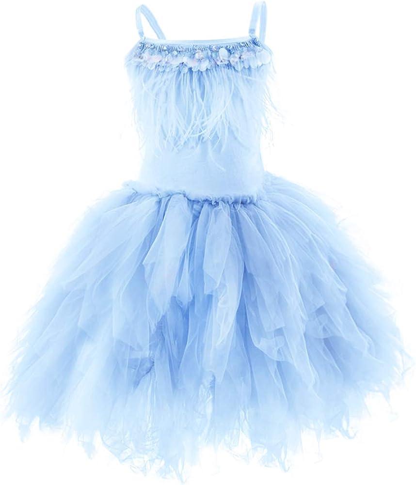 IBTOM CASTLE Ranking TOP11 Fees free!! Kids Swan Princess Feather Dance Costume Ballerina