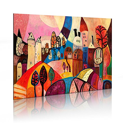murando Quadro Dipinto a Mano 1 Parte Quadri Moderni su Tela Pittura Disegni Unici ed Irripetibili Motivi d'autore Decorazione da Parete 5621 90x60 cm