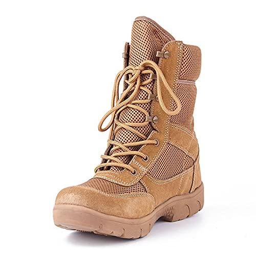 BYYDYSRFLO Botas de Senderismo para Hombre - Durable, Transpirable Zapatos Ligeros para Exteriores, Forro de Malla - para Toda la Temporada, Viajar, Acampar Desierto Desert-UK 2