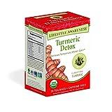 Lifestyle Awareness Turmeric Detox Balance Tea, Caffeine Free, 20 Tea Bags, Pack of 6