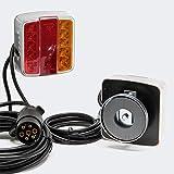 Alumbrado trasero LED magnético para remolque 7-pol 12V E11 Iluminación trasera Accesorios automóvil