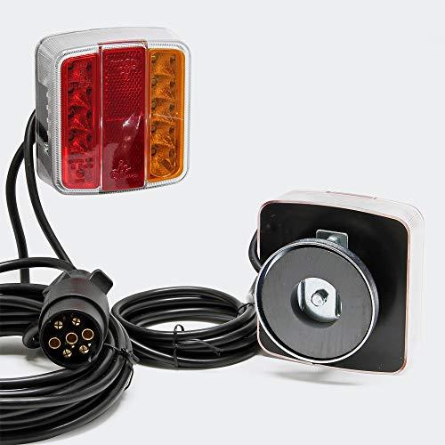 Feux arrières LED ave Aimant Fiche à 7 Broches 12V, E11 Remorque Camion Éclairage immatriculation