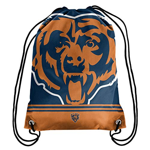 Chicago Bears Big Logo Drawstring Backpack – Limited Edition FOCO Bears Bag – NFL Gear for the NFC North Division – Show Your Team Spirit with Officially Licensed Chicago Fan Gear
