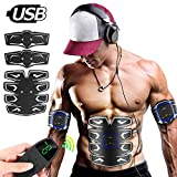 8-Pack Abs Muscle Stimulator with LCD Display Remote Control - EMS Ab Stimulator Abdominal Toning...