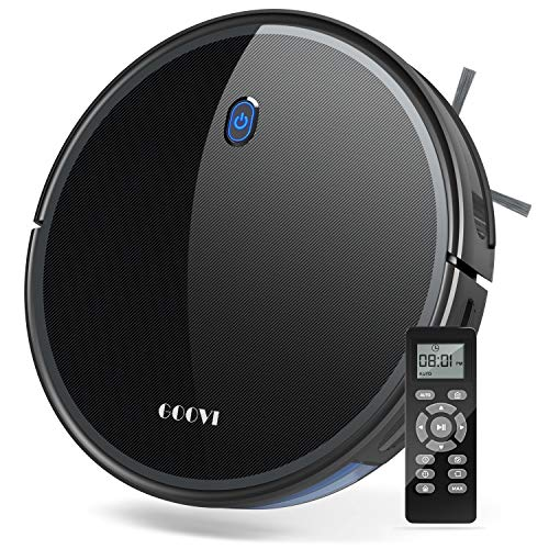 GOOVI 1800Pa Robotic Vacuum Cleaner (Slim) Max Suction, Quiet Multiple Cleaning Modes, Self-Charging Vacuum, for Pet Hair, Hard Floor, Medium-Pile Carpets $99 (Original price $190)