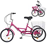 Slsy Adult Folding Tricycles, 7...