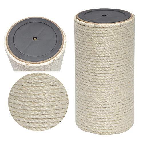 nanook Kratzsäule/Sisalsäule/Ersatzstamm für Kratzbäume - Ø 15 cm, Gewinde M8 - aus Teppichgewebe - beige - Länge 50 cm