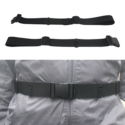 YYST One Backpack Waist Belt Backpack Waist Strap Universal Fit with Buckle - Black