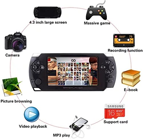 2018 Portable Video Game Console, 4.3' LCD Player 8GB Built-In 32Bit 3000 Games by SmartPro