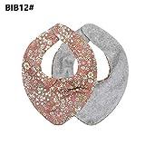MB-LANHUA Babero Bebé Saliva Toalla Bebé Recién Nacido Niños Niñas Patrón Floral Babero Triángulo 12#