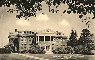 Draper Hall, University of Massachusetts Amherst Original Vintage Postcard