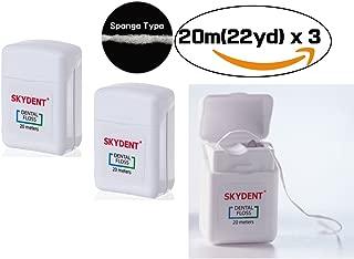 SKY Ultra Floss [21.9 Yard(20m) x 3] Soft Dental Floss, Sponge Cushion Type for Sensitive Gums