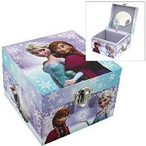 Disney Frozen, Elsa, Anna - Scatola Per Gioielli Con Carillon, A Tema, Per Bambini