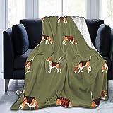 Beagle Buffalo Plaid Ultra Soft Flannel Fleece All Season Light Weight Living Room/Bedroom Warm Blanket…