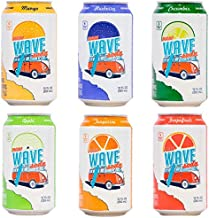 Wave Soda 24 Count Variety Pack with 6 Politely Caffeinated Sparkling Fruit Juice Flavors - Vegan, Gluten-Free, BPA-Free, No Sugar Added, and Fully Recyclable