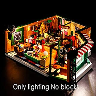 Blocks - Creative Compatible LEGO 21319 Classic American Drama Friends Big Bang Theory Cafe LED Lighting Group Bricks Toys Gifts (only light P14401)