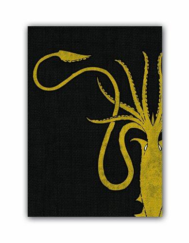 Fantasy Flight - Bustine Protettive in Edizione Limitata a Tema Il Trono di Spade, 63.5 x 88 mm, Casa Greyjoy