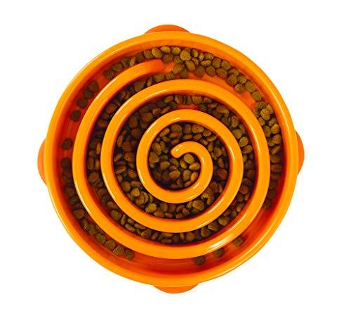Outward Hound Fun Feeder Slo-Bowl - Ciotola per Cani - Large/Standard - Arancione