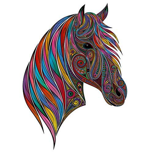 ZARQ Holzpuzzle, Pferd Einzigartige Form Puzzleteile Tierförmiges Puzzle Erwachsene und Kinder